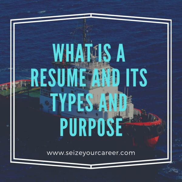 What is a resume and its purpose.