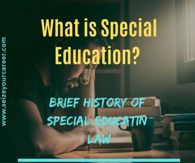 Brief history of special education | what is special needs education